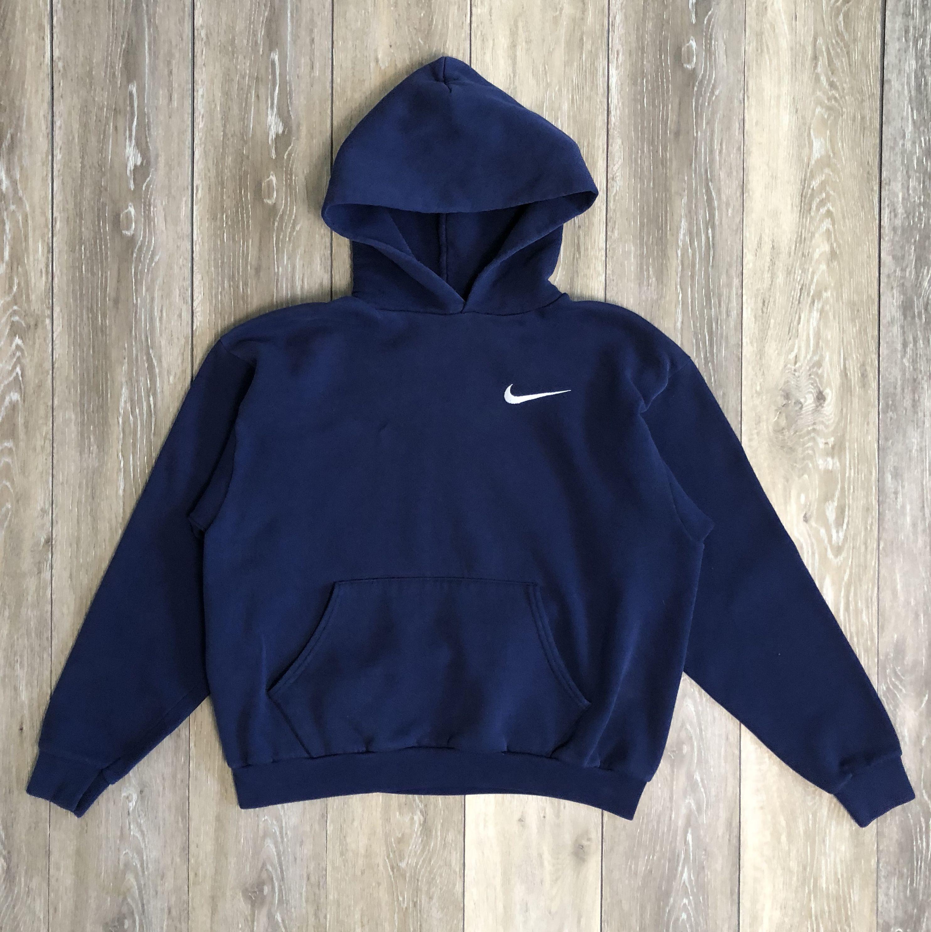 90s Vintage Dark Blue Nike Pullover Hoodie Depop Nike Pullover Hoodies Pullovers Outfit [ 2968 x 2967 Pixel ]