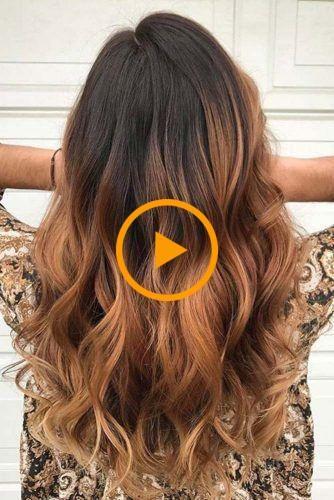 Couleur des cheveux caramel ombre pour brune Image 3 #brunette #caramel # couleur de cheveux …