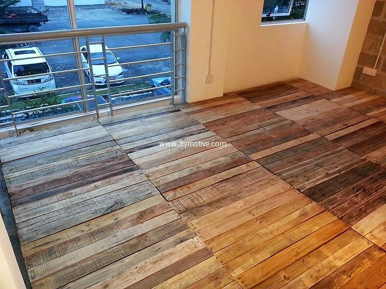 Creative Home Flooring Ideas With Reused Pallets Pallet Floors