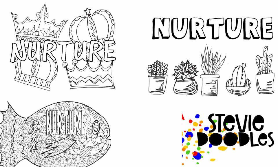 Nurture 3 Free Printable Coloring Pages Oneword Wordoftheyear