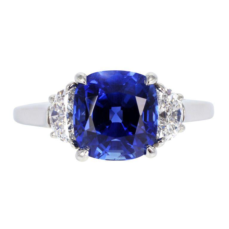 8e2494e41b3 Tiffany   Co. No Heat Sapphire Ring