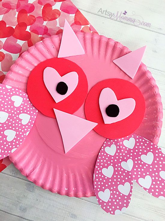 Charming Valentine S Day Owl Craft Valentine S Day Crafts And