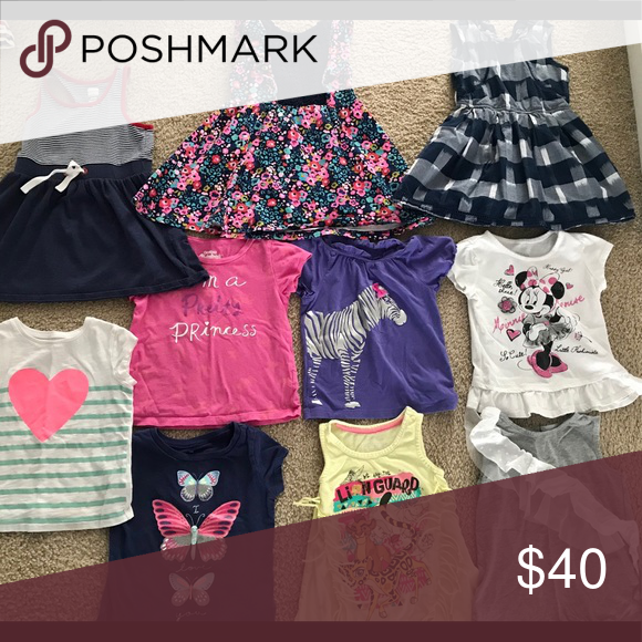 ba3f5131e 4T Girl Dresses T Shirts Lot only. All size 4T. 3 dresses-old navy ...