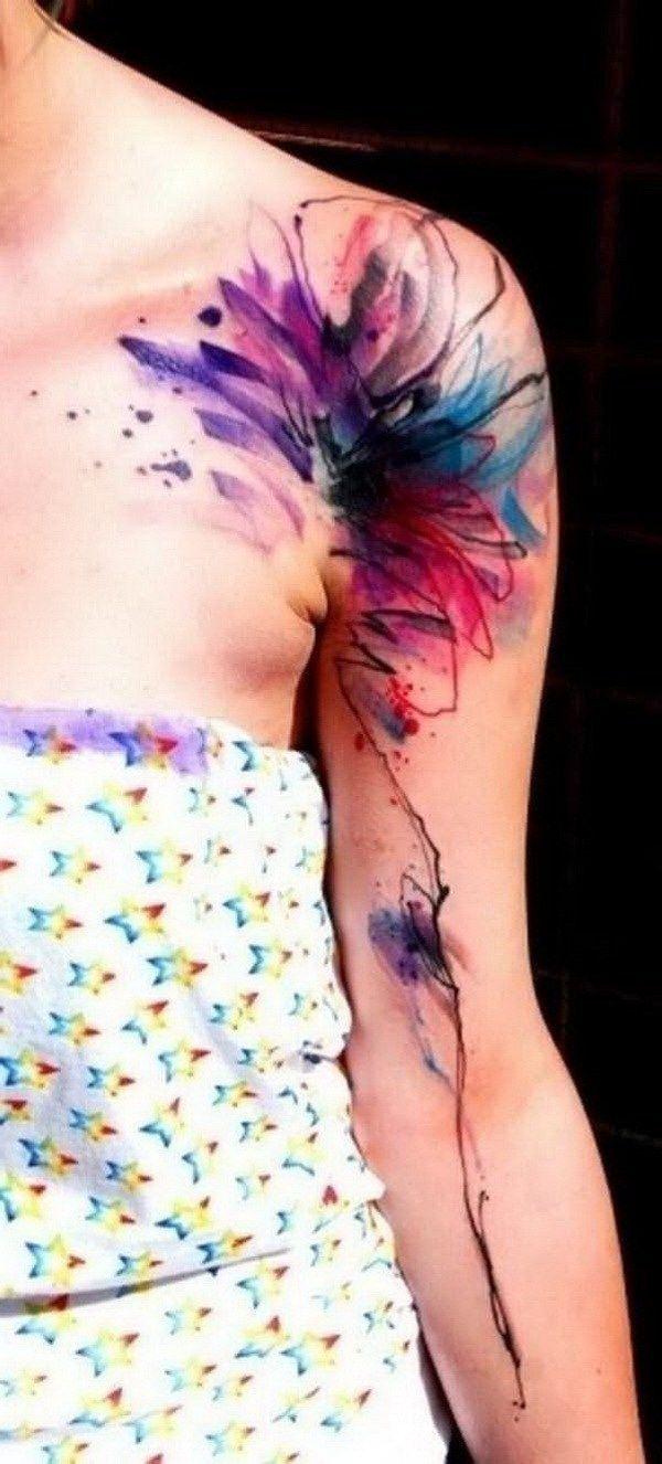 Photo of Das trendige Tattoo für 2019 ist Watercolor Tattoo
