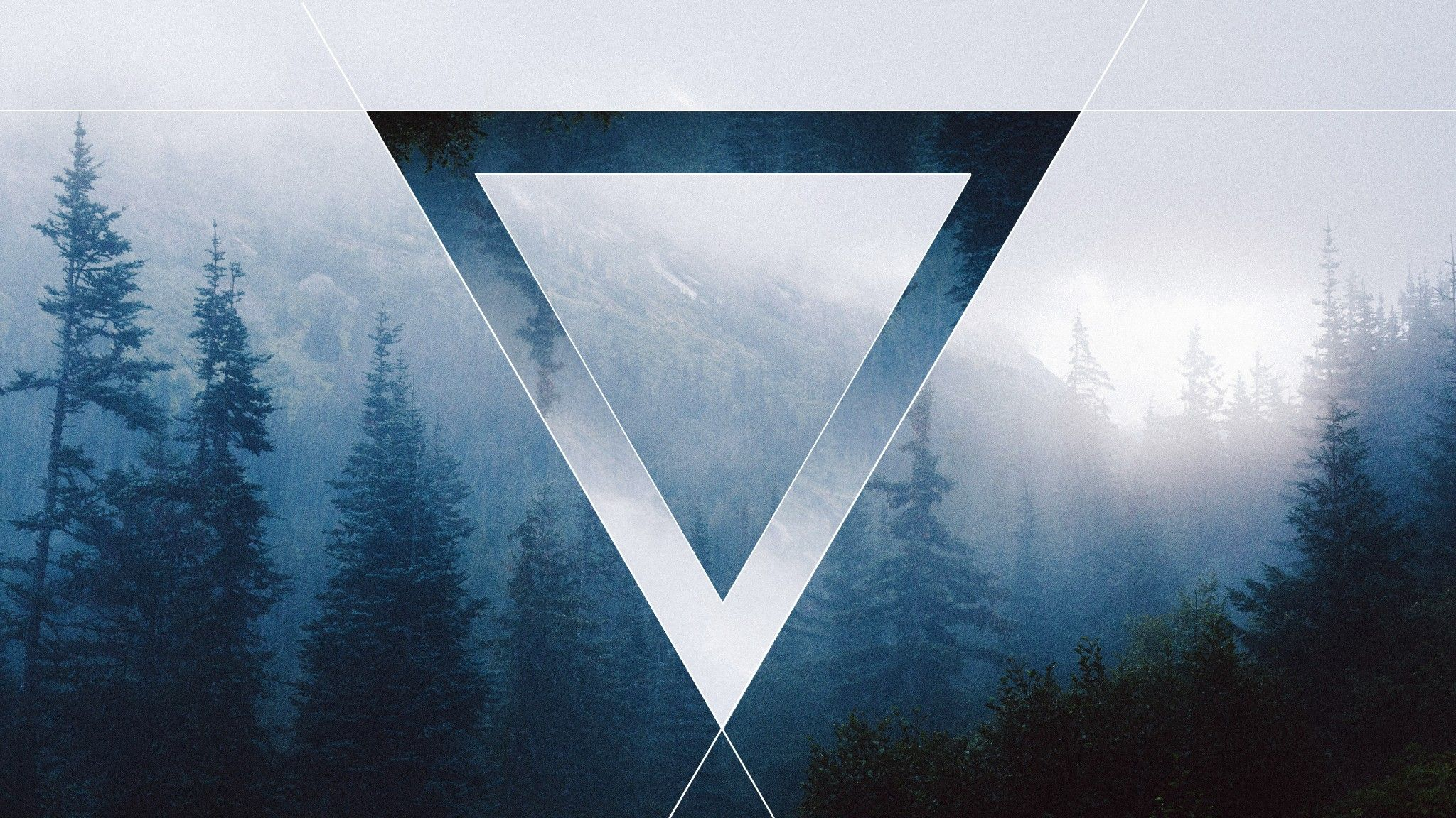 Triangle Forest Polyscape Wallpaper Geometric Laptop Wallpaper
