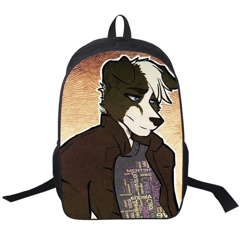 Animal Printing Backpack Dog Rottweiler Pug Golden Retriever Daily Backpack Boys Girls School Backpacks Cat Punk School Bags