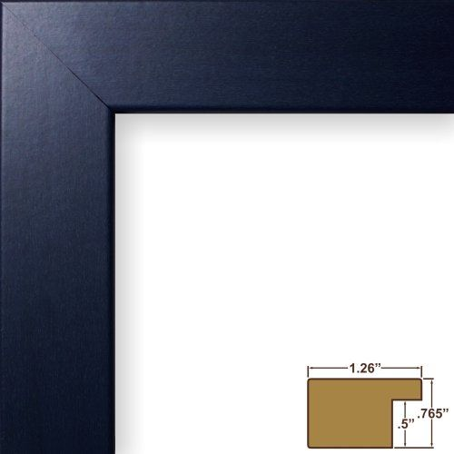 Craig Frames 26025 10 By 30inch Picture Frame Smooth Wrap Finish 125inch Wide Blue Click For More Speci With Images Picture Frame Colors Poster Frame Picture Frame Sizes