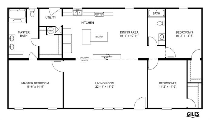 Interactive floorplan game changer 3br 32563b for Oakwood floor plans