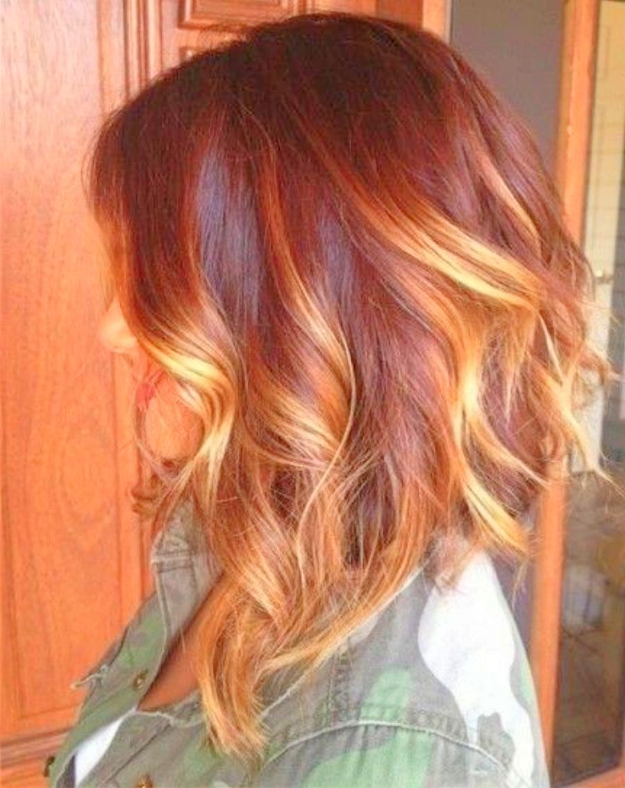 Summer red highlights hair color google search hair pelo