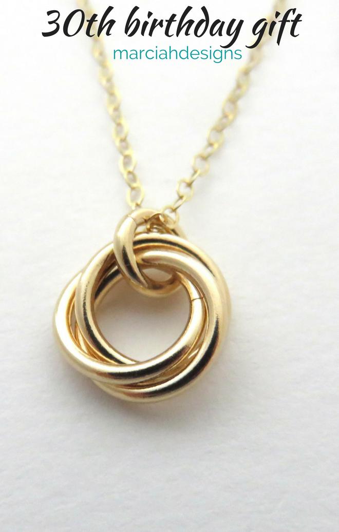 30th Birthday For Her Gold Birthday Necklace 30th Birthday Gift