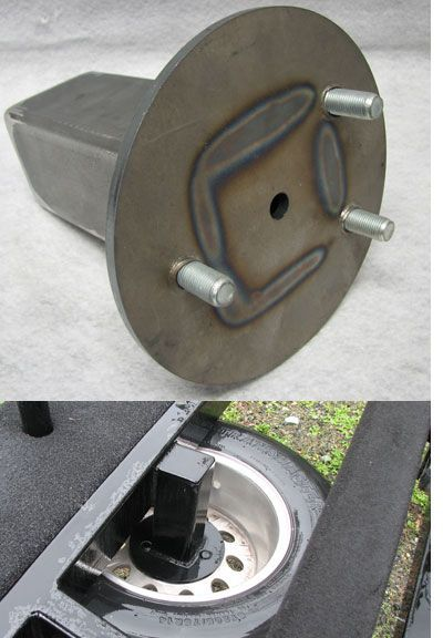 Trailer Spare Tire Carrier Under Carriage Mount 00 Boat