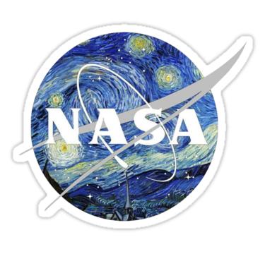 Starry NASA Sticker by jcocozziello