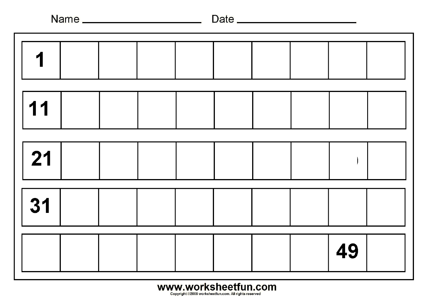Write 1-20 Worksheet - Google Search
