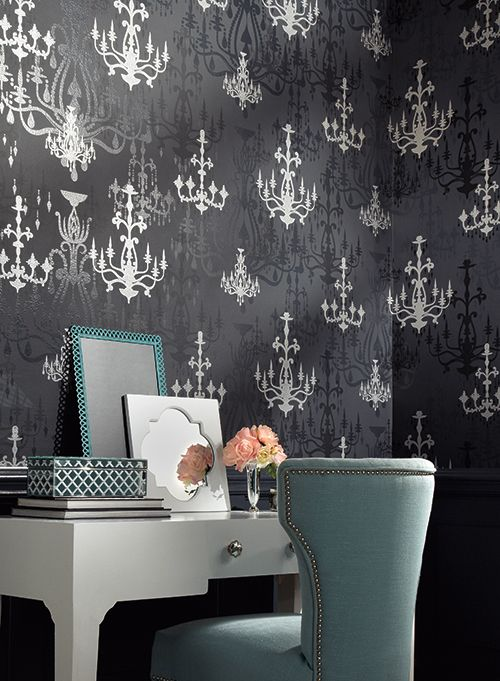 From Wallpapher Wall Coverings Feature Wall Wallpaper Black