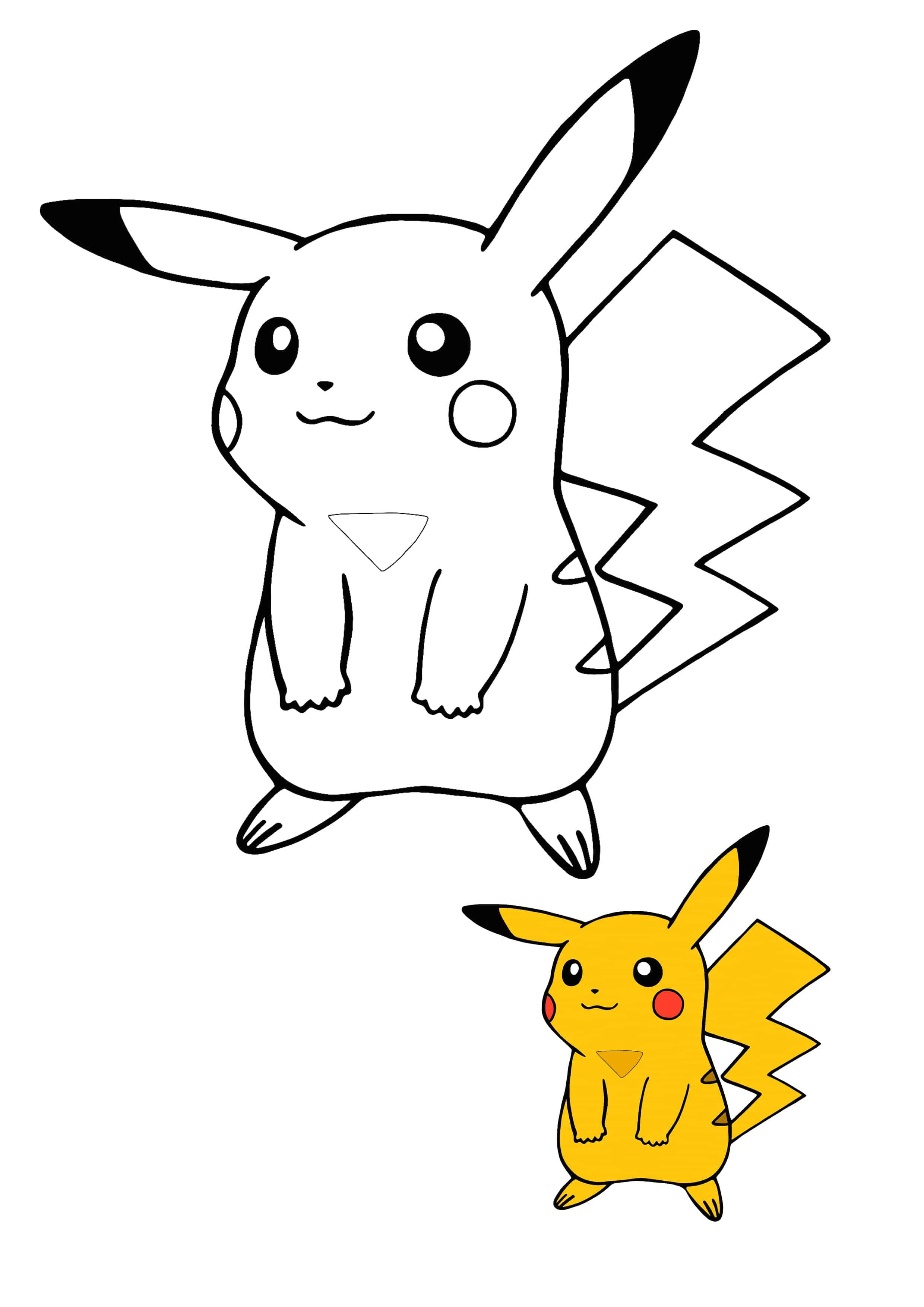 Kawaii Pikachu Coloring Page With Preview Pokemon Coloring Pages Free Printable Coloring Sheets Pikachu Coloring Page