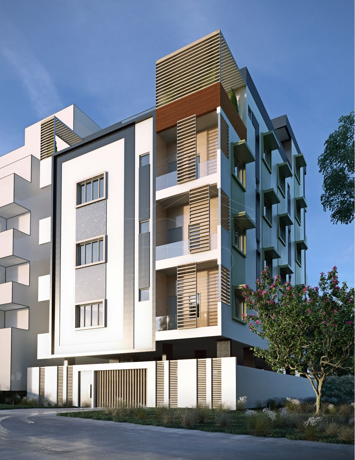 Modern Apartment Exterior Design Bengaluru India