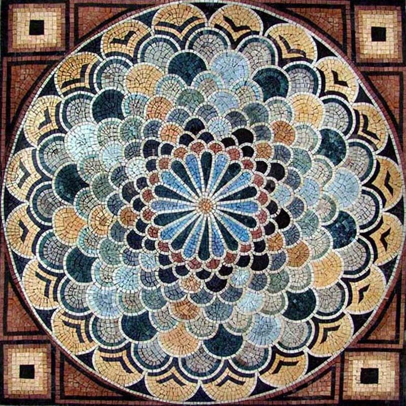 Geometric marble mosaic stone pattern mosaics for Mosaic patterns online