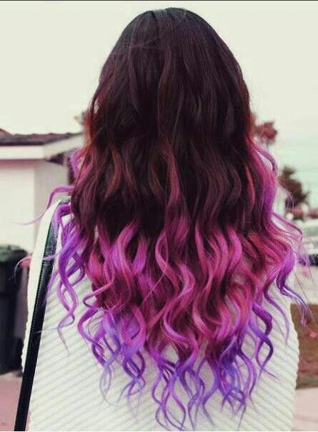black & purple ombre hair I love this, but it's just too wild for me.