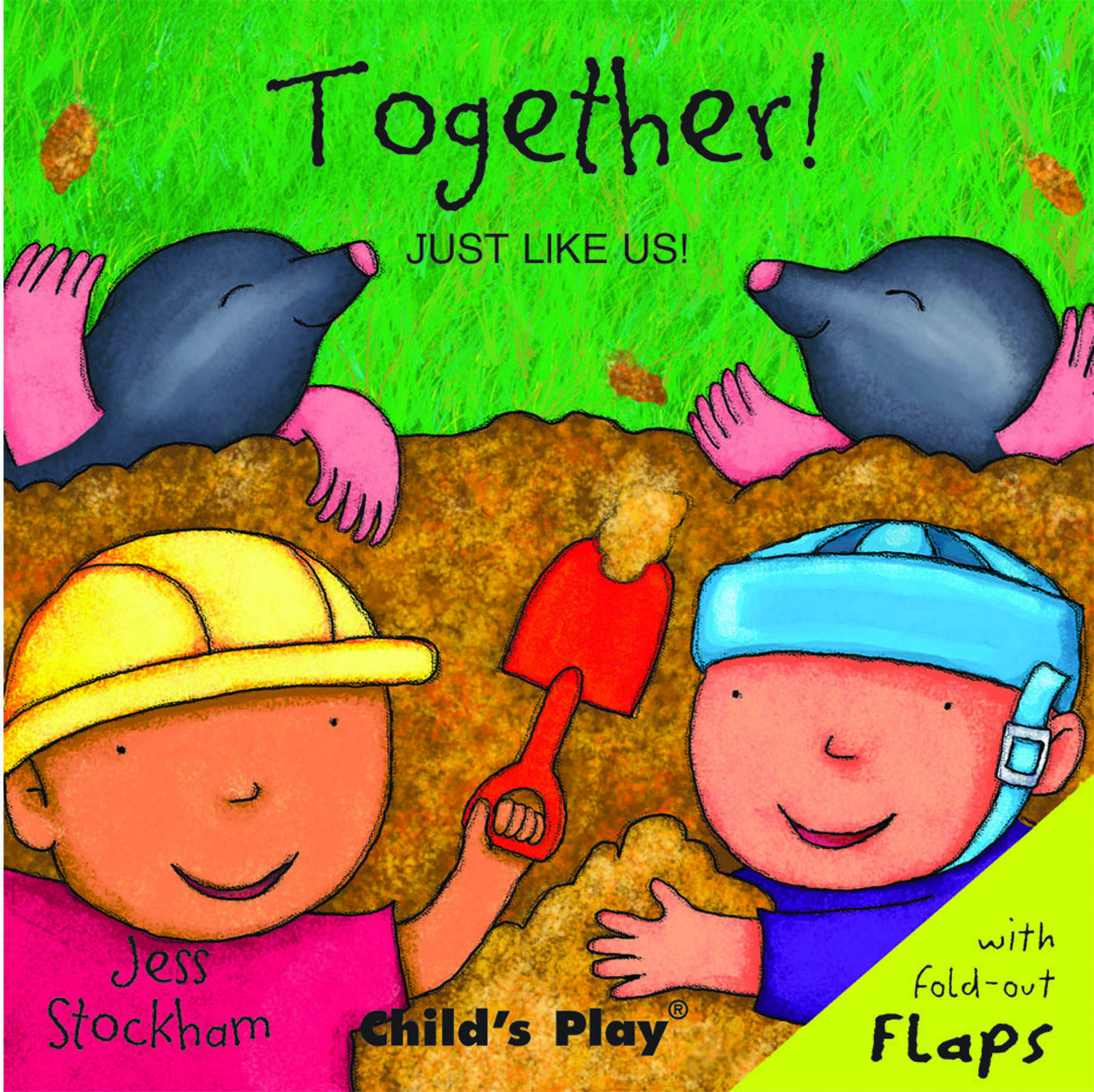 Fun flap book featuring a child wearing a safety helmet