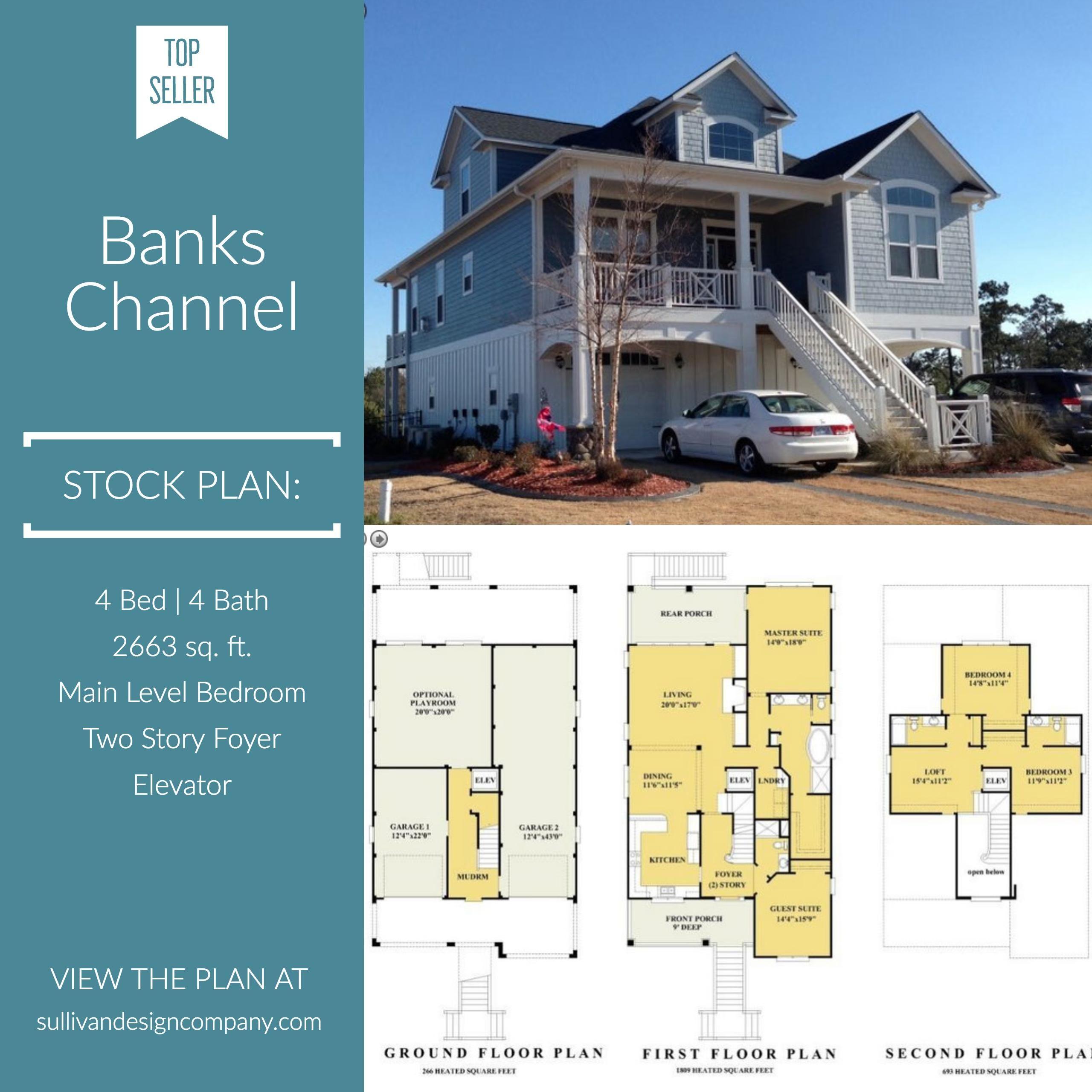 Banks Channel Coastal Cottage Beach House Plans Cottage House Plans