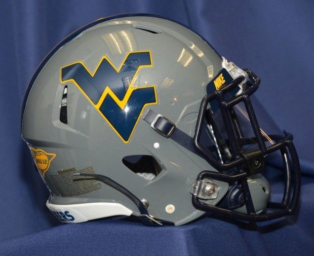 West Virginia Gray Football Helmet West Virginia