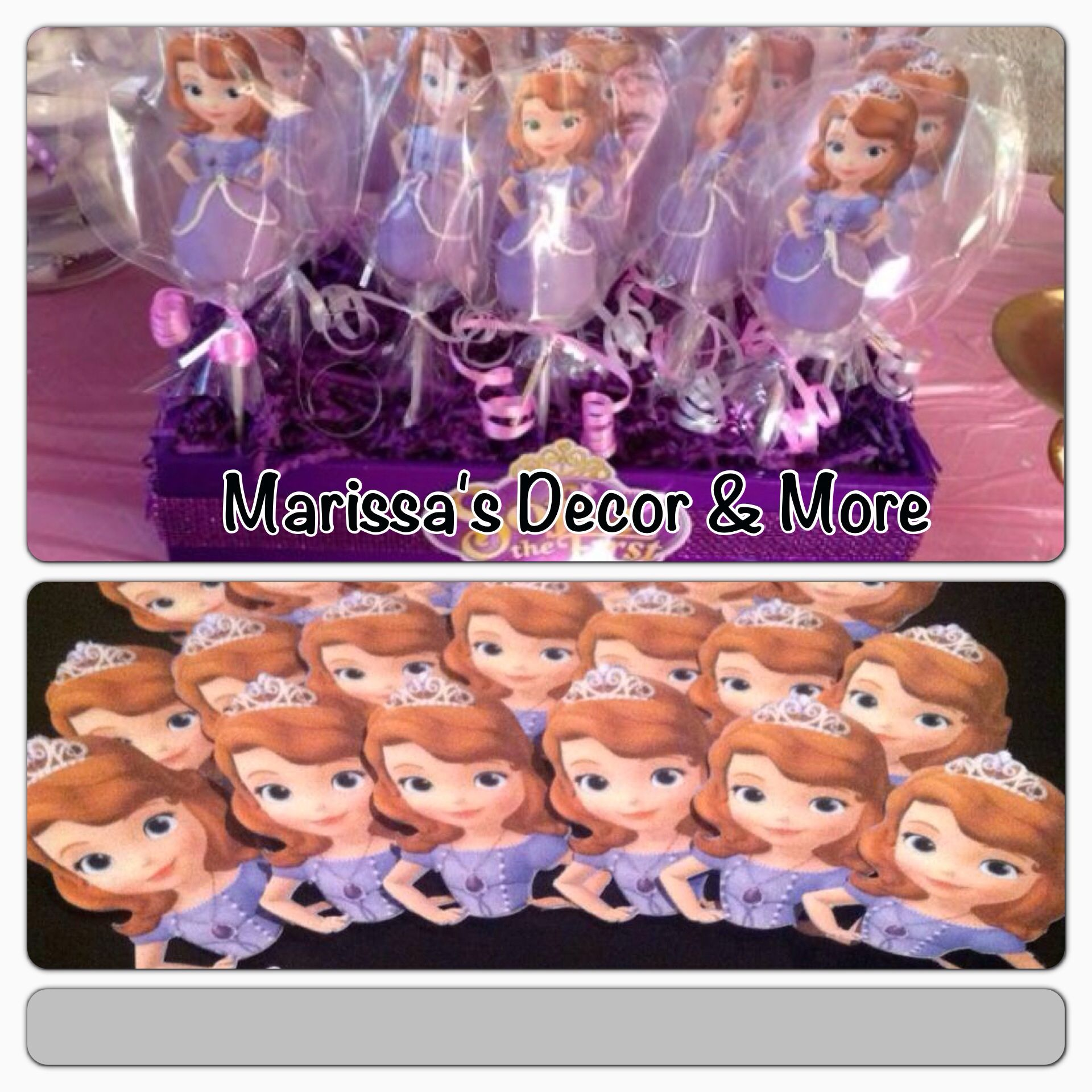 Sofia The First Party Theme Cakepop Toppers
