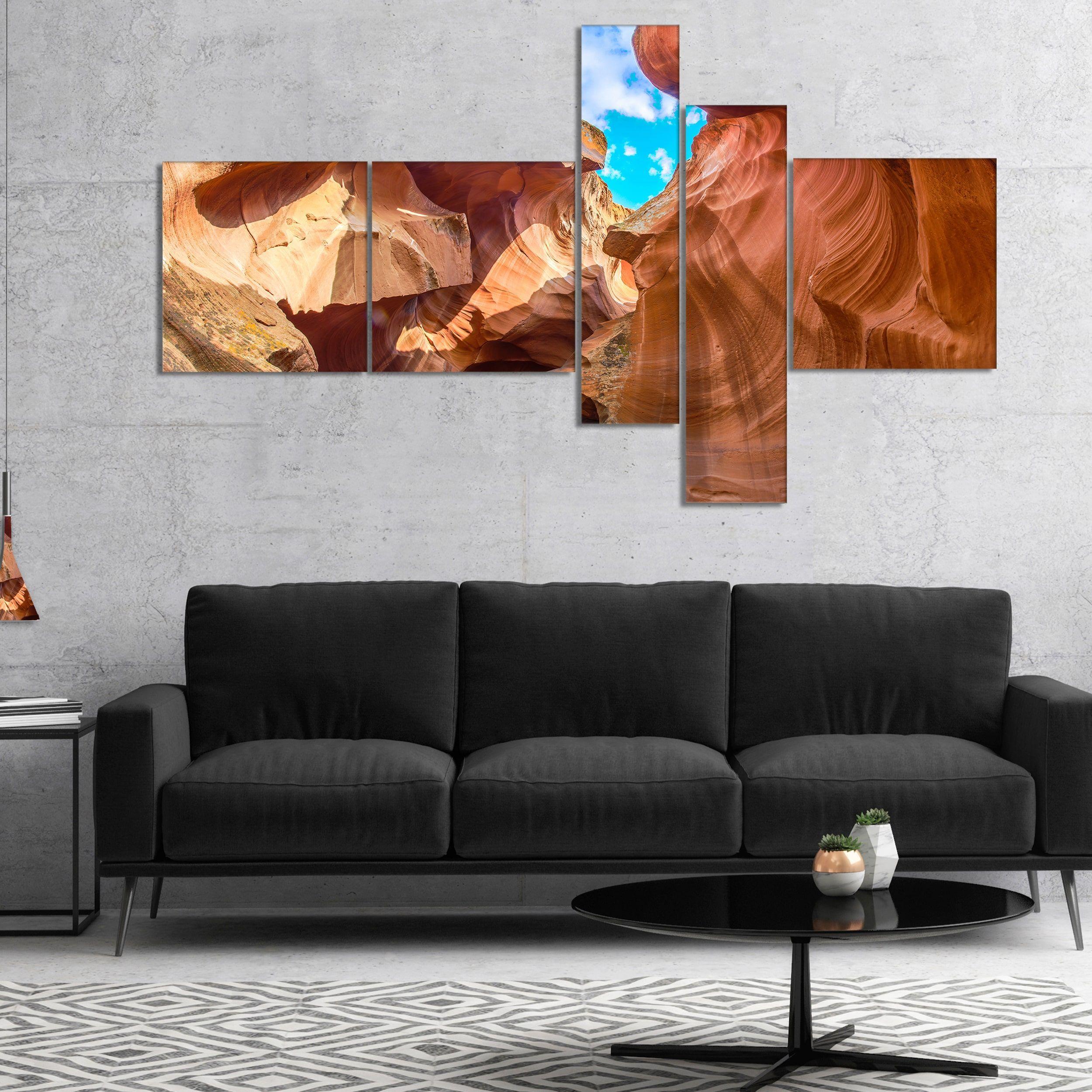 Designart usky from antelope canyonu landscape photo canvas art