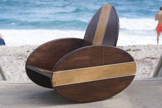 @Turtle Vanderlip this made me think of you and Jamie when y'all have a kid! It's a surf board rocking chair! :)