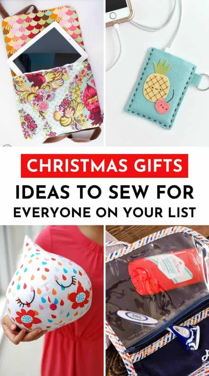 20+ Christmas Gift Ideas To Sew for Everyone on Your List