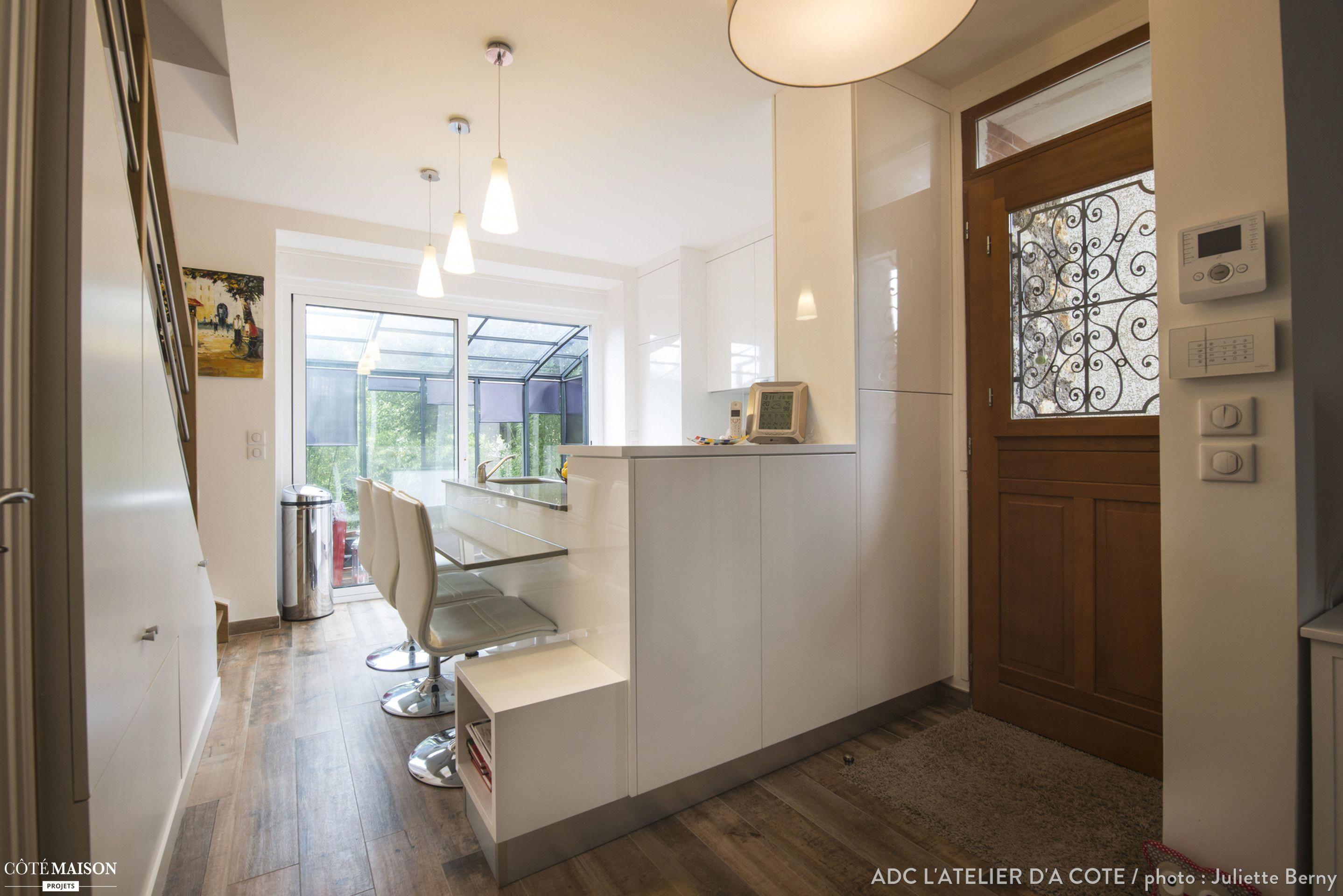 Une Petite Maison En Meuliere De 30m Au Sol Sur Cinq Niveaux Adc L Atelier D A Cote Cote Maison Bricolagemaison Renovation Maison Maison Petite Maison