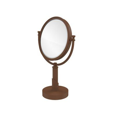 Allied Brass WM-4//3X-CA 8 Inch Wall Mounted Make-Up Mirror 3X Magnification Antique Copper