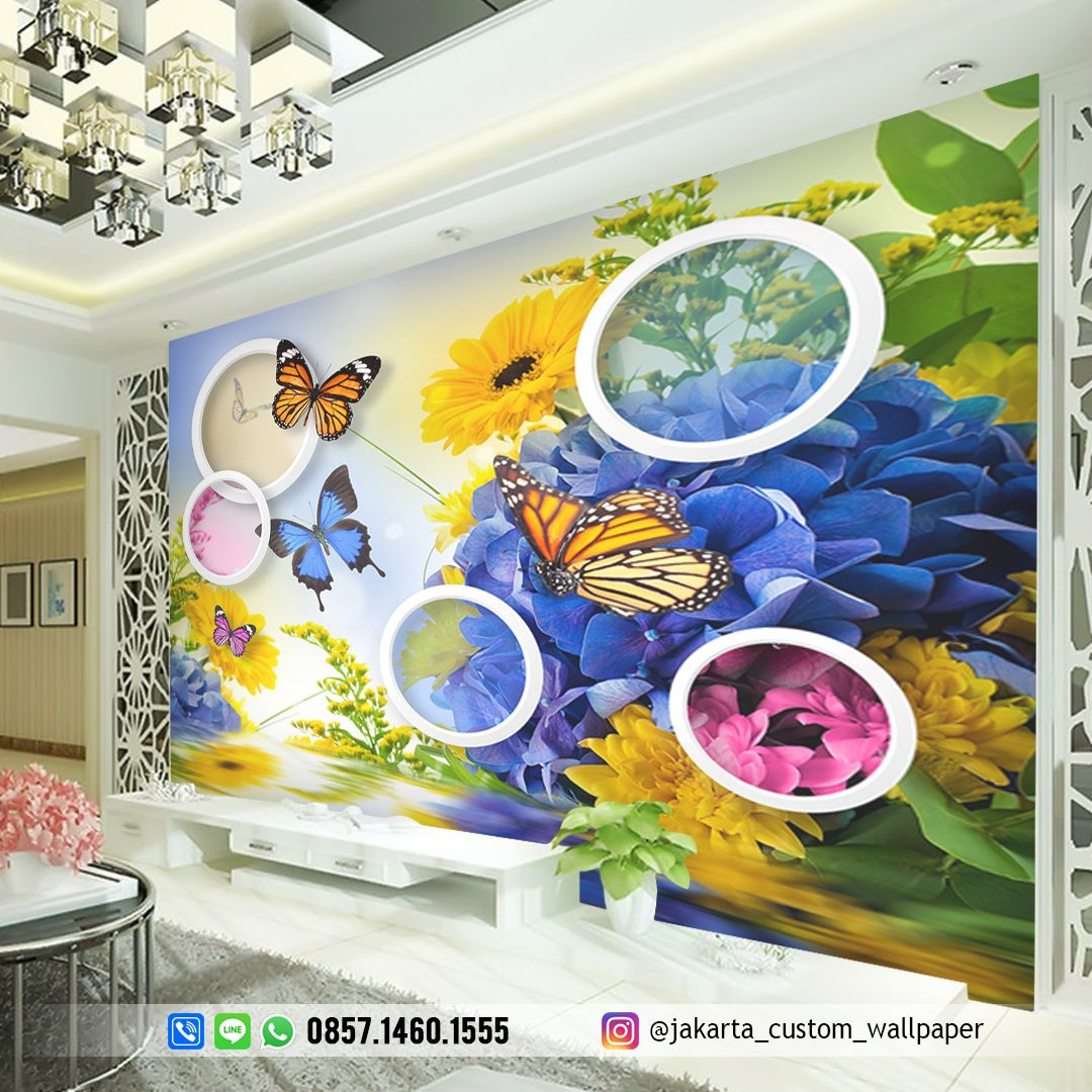 Wallpaper Dinding Butterfly ⚡Produksi 1 Hari 🏭Jl KH