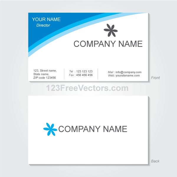Vector Visiting Card Design Template | Business Card Templates ...
