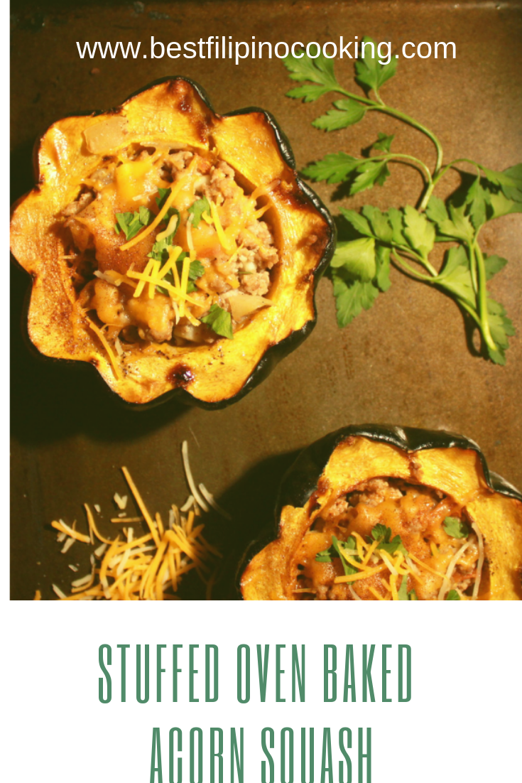 Stuffed Oven Baked Acorn Squash Recipe Lamb Recipes Acorn