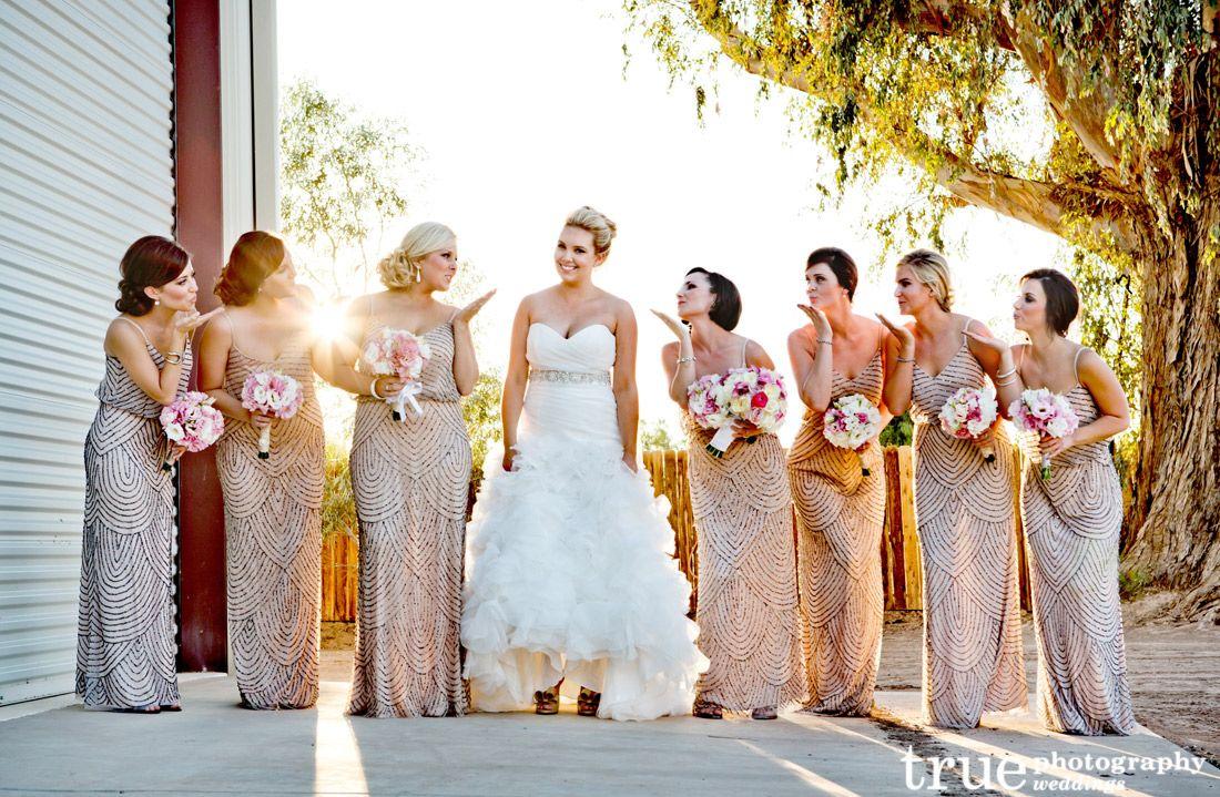 Metallic Bridesmaids Dresses Maxi Dress Yes But Not All The Exact Same