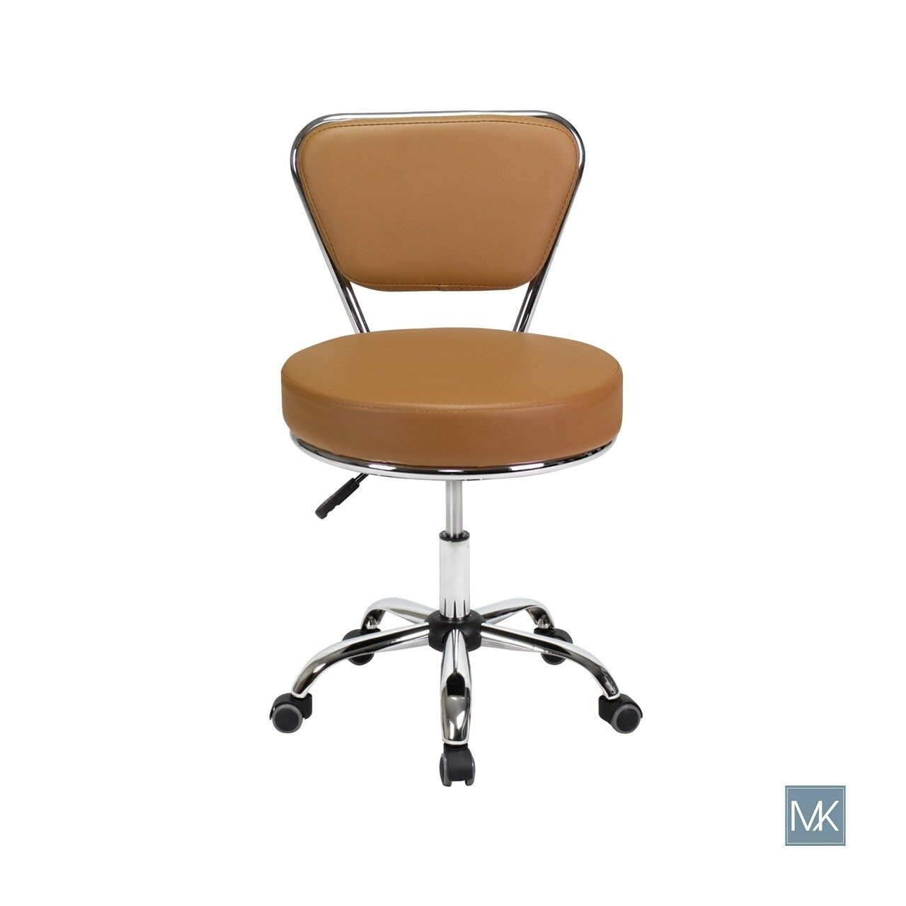Petite Reception Desk Chair Dayton Cappuccino Pneumatic Stool