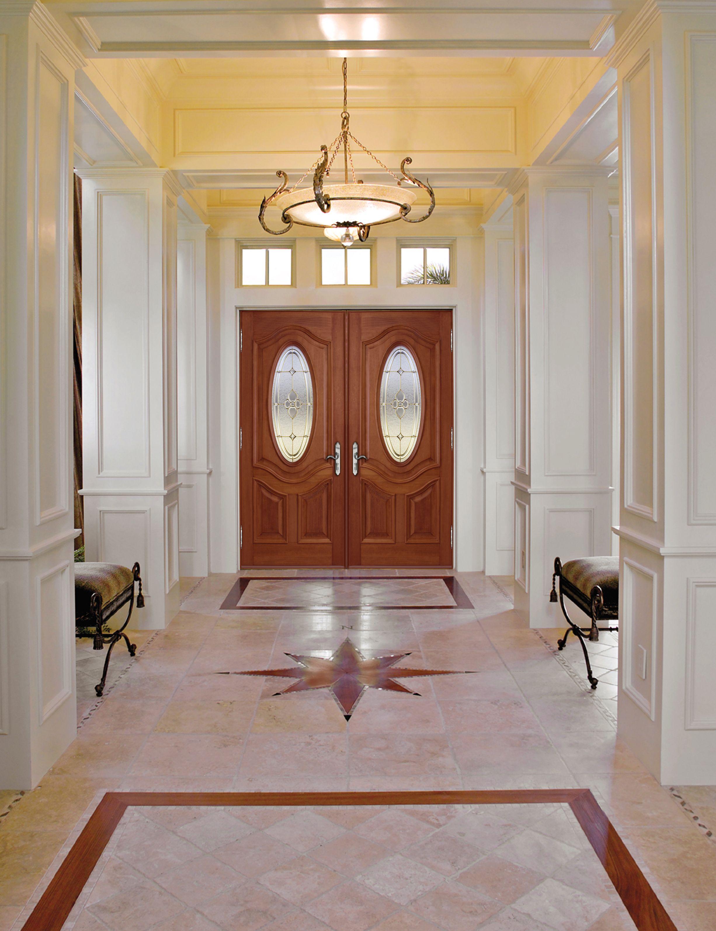 porte d 39 entr e principale double en bois vue int rieure. Black Bedroom Furniture Sets. Home Design Ideas