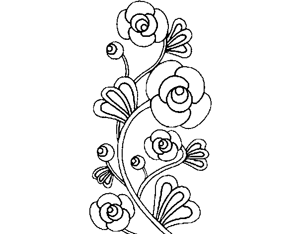 Rose Coloring Book Pages Coloring Page Rose Garden To Color