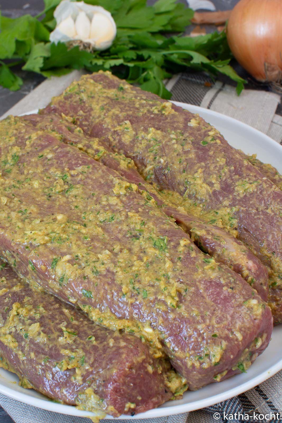 Grillmarinade - Lammrücken in Kräuter-Senf Marinade - Katha-kocht!