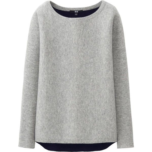 UNIQLO Women Cashmere Dolman Sweater ($100) ❤ liked on Polyvore ...