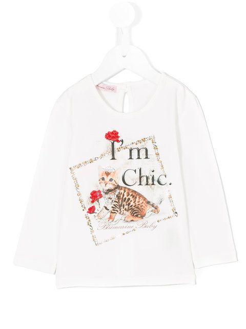 Miss Blumarine long sleeve printed T-shirt