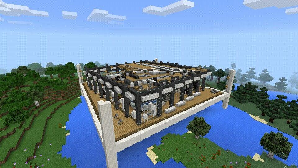 Casa moderna minecraft minecraftpe construcciones for Construcciones modernas