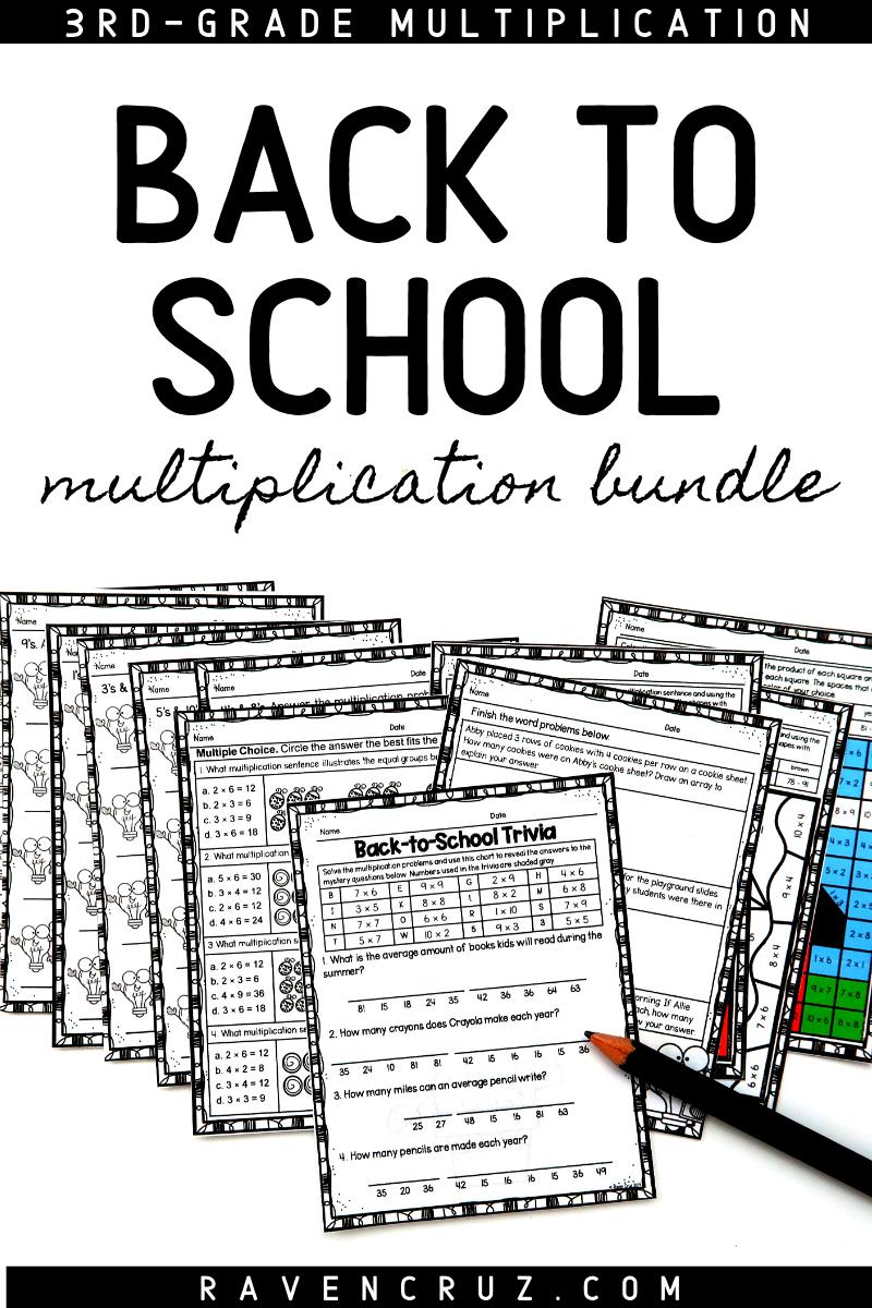 Back to School Multiplication Activities   Middle school math resources [ 1200 x 800 Pixel ]