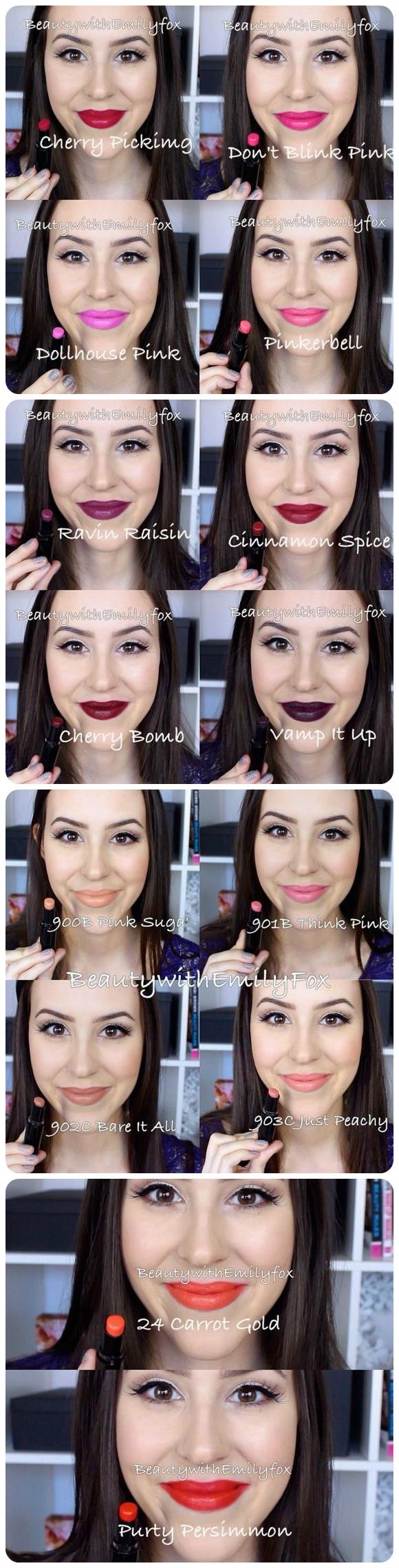 Wet n WIld Mega Last Lipsticks in Stoplight Makeup