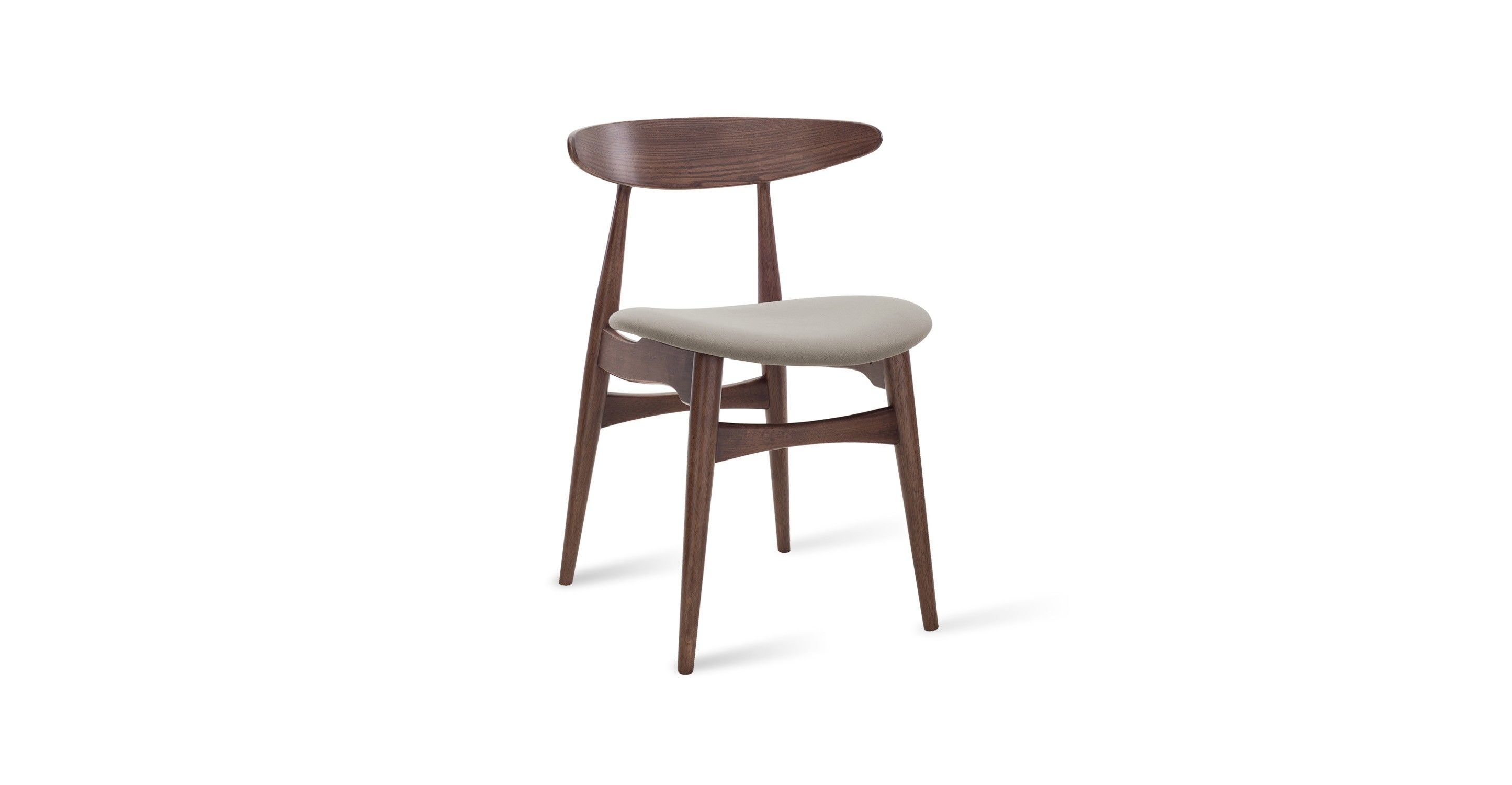 Tricia Barley Fabric Walnut Dining Chair Chairs Stools