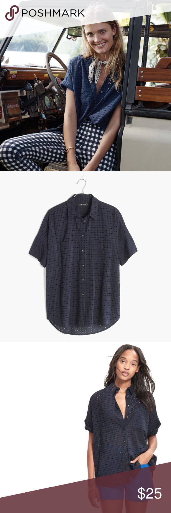 42a78c6d Madewell Eyelet Courier Shirt This popular style is SOLD OUT ON MADEWELL.COM  In excellent