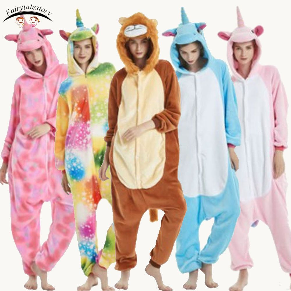Shoes Animal Cosplay Costume Kids Pajamas Rainbow Pyjama Unicorn Sleepwear