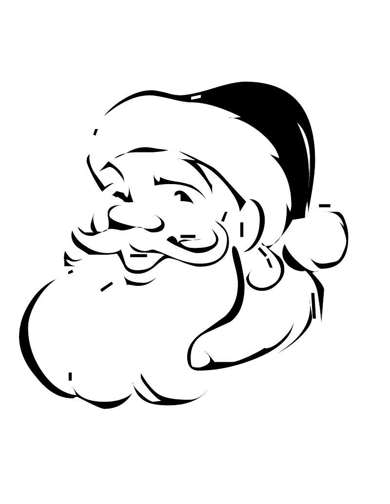 Xmas Stuff For > Christmas Santa Face Coloring Pages | Art ...