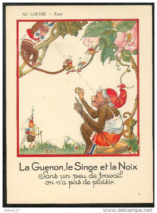La guenon le singe et la noix au pays des merveilles - Dessin guenon ...