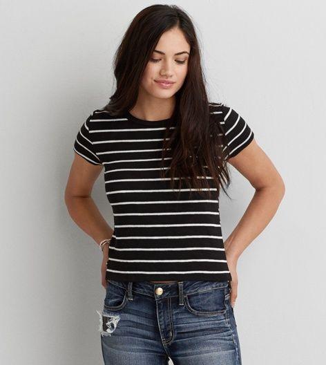 Black AEO Textured Baby T-Shirt